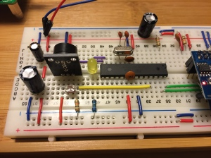 ATMega328 handles all analog and digital devices.